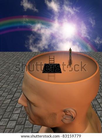 Exploring Mind - stock photo