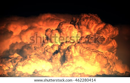 Explosion and big fire texture background