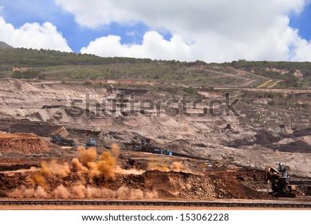 Explosion blast  - stock photo