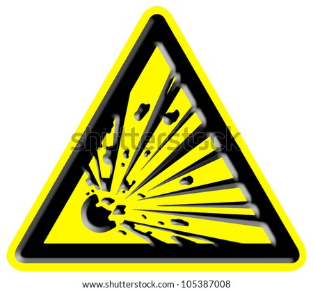 Explosion hazard sign - stock photo