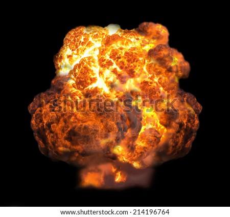explosion in dark - stock photo