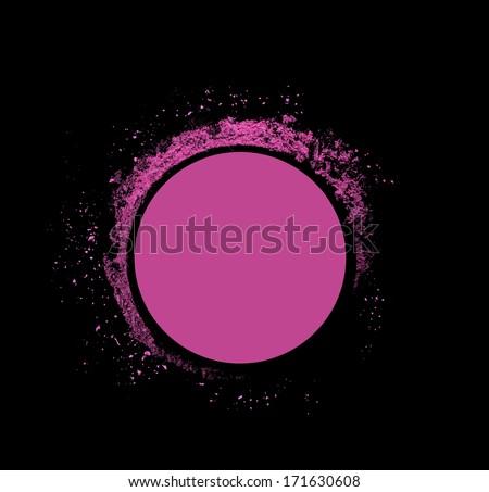Explosion makeup pink pastel pellet powder  - stock photo