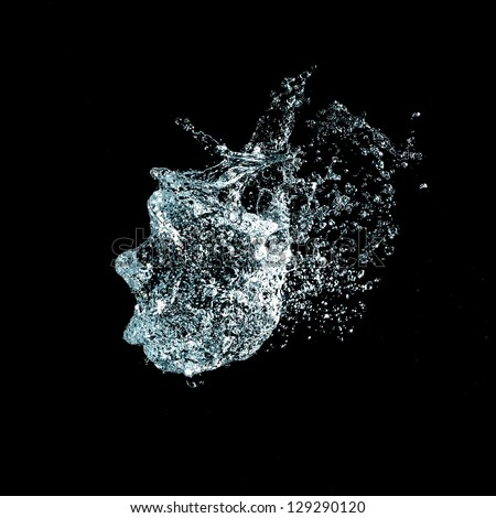 Explosion of water - stock photo