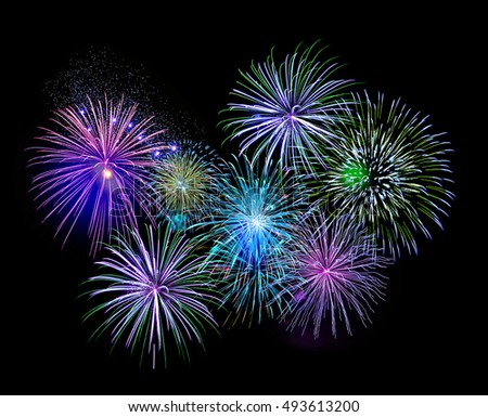 New Year Celebration Fireworks Stock Photo 223255012 ...