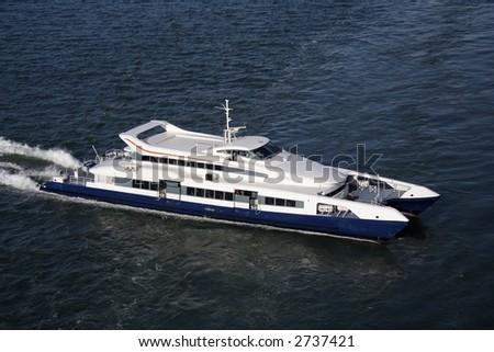 Express catamaran ferry - stock photo