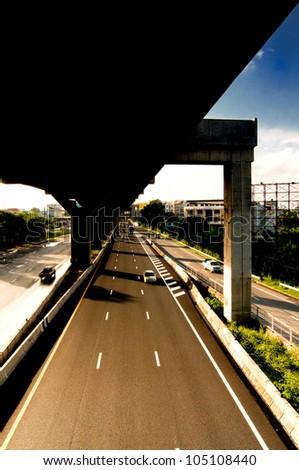 express way in bangkok thailand - stock photo