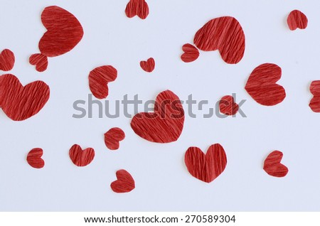 Expression of love to the dearest / Hearts of love / Celebrating Mother's day and Valentine day - stock photo