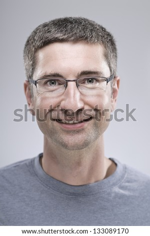 Expressions/ Smiling Man - stock photo