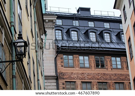 Exquisite architecture of the beautiful Swedish capital city of Stockholm