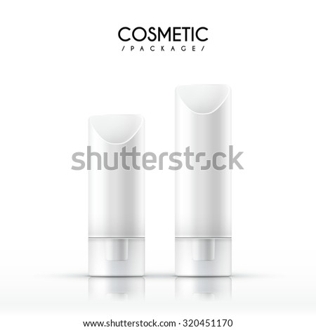 exquisite cosmetic package isolated on white background - stock photo
