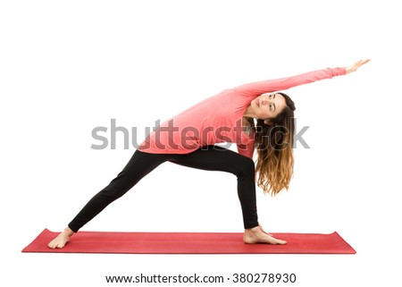 Extended side angle pose - stock photo