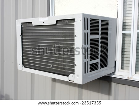 Exterior Air Conditioning Unit - stock photo