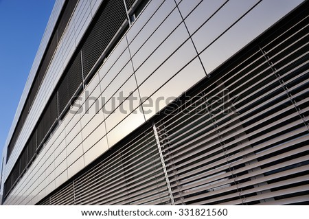 Exterior cladding of the building - stock photo