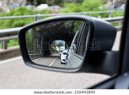 Exterior mirror - stock photo