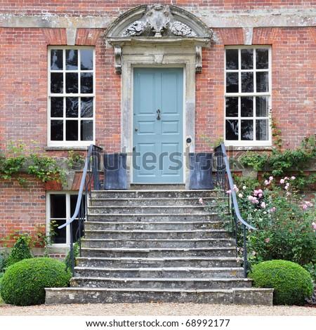 Exterior of a Beautiful Georgian Era English Town House Built Circa 1800 - stock photo