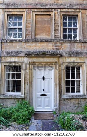 Exterior of a Georgian Era English Town House - stock photo