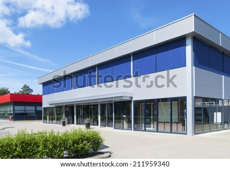Building exterior stock images royalty free images for Modern office building exterior design