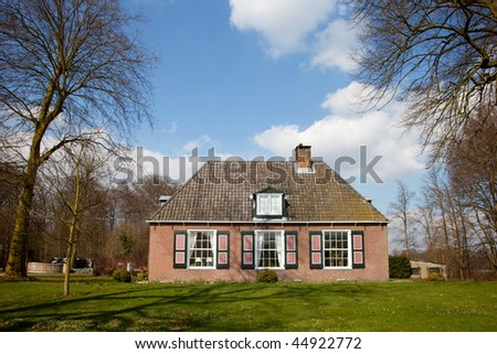 Exterior of a traditional farmhouse in Holland