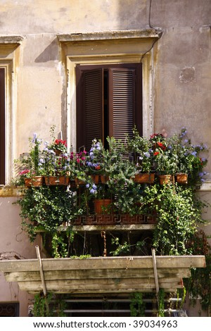Exterior of an old house in Italy