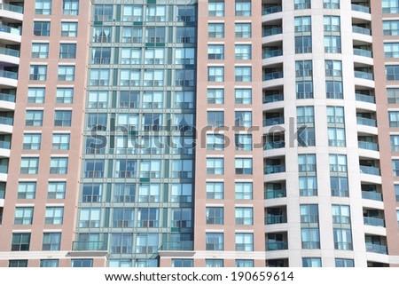 Exterior of condominium building - stock photo