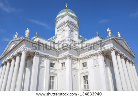 Exterior of the Helsinki Cathedral in Helsinki, Finland