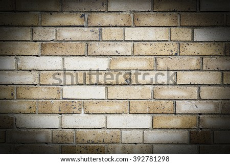 Exterior Tan Brick Wall
