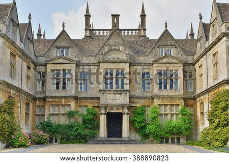 Exterior View Grounds Old English Manor Stock Photo