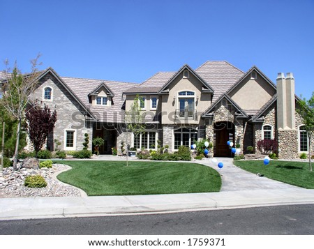 Exterior view of a large luxurious home