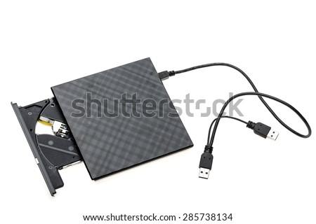 external DVD - stock photo