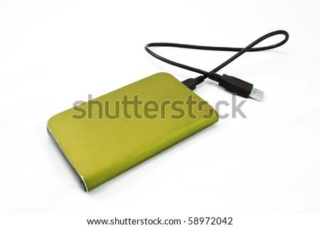 External hard disk - stock photo