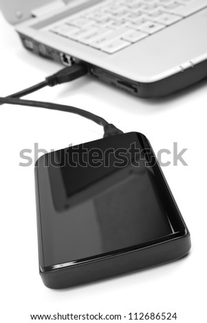 External hard drive - stock photo
