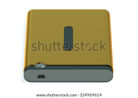 External HDD isolated on white background - stock photo