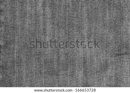 External texture of shabby denim for wallpaper and an abstract background, a fragment of jeans, black color
