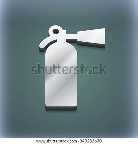 extinguisher icon symbol. 3D style. Trendy, modern design with space for your text illustration. Raster version - stock photo