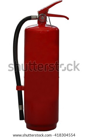 extinguisher stand by at work site or working shop for prepare in fire case, emergency case or worst case from fire, safety equipment stand by around working area. - stock photo