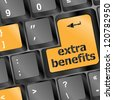 extra benefits button on keyboard - business concept, raster - stock photo