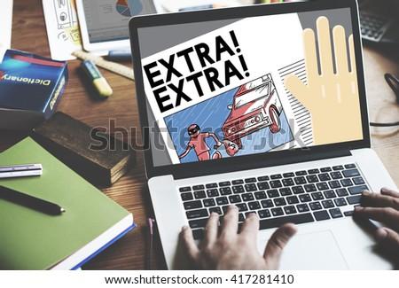 Extra Important Announcement Advertisement Concept - stock photo