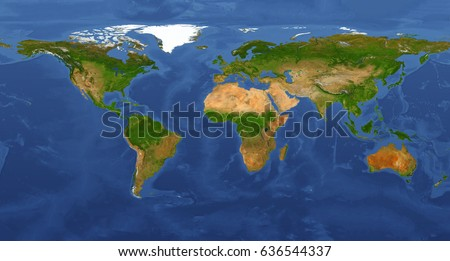 Extra Large Big Map Highest Detail Stockillustration 636544337 ...