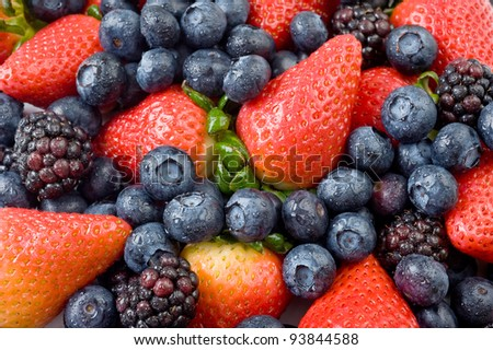 Extreme close-up image of berries, berries background