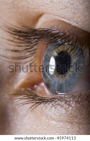 extreme close up of eye - stock photo
