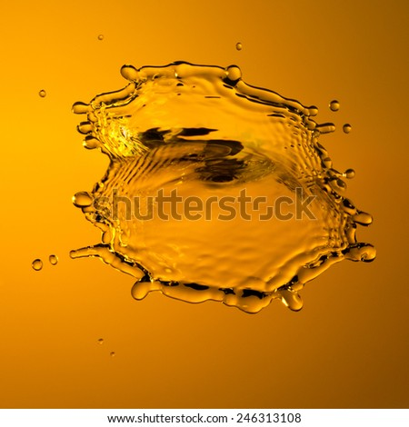 Extreme close-up of water splash with abstract background - stock photo