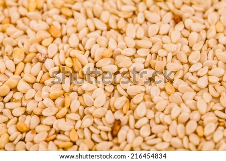 Extreme Closeup of Sesame Whole Seeds Texture - stock photo