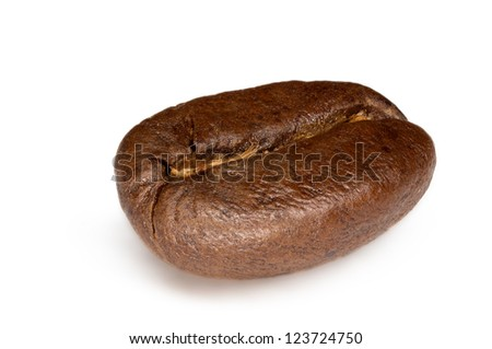 Extreme macro of a single coffee bean. Focus stacking has been used to enable front to back focus on such a small object.