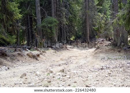 Extreme terrain - stock photo