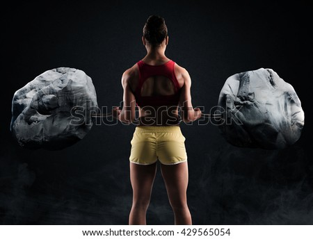 Extreme workout - stock photo