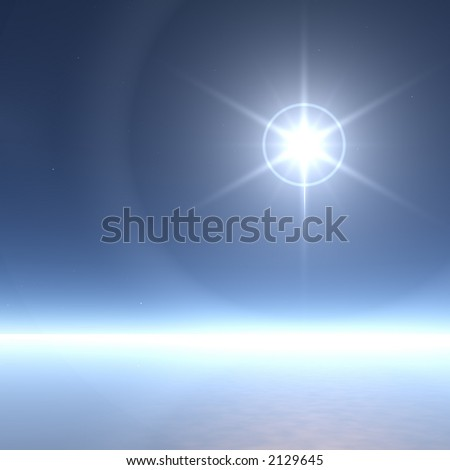 Extremely Bright Star with Ice Rings