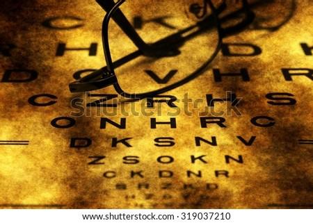 Eye Chart grunge concept - stock photo