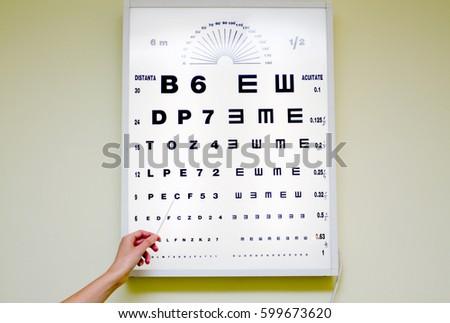 Eye Chart Medical Clinic Eye Chart Stock Photo Royalty Free