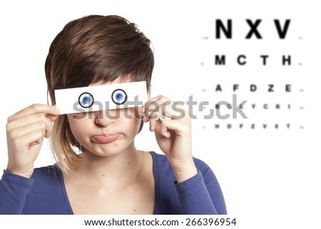 eye exam - stock photo