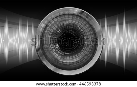 eye future technology, security concept background, Dark black cyber Light Abstract for computer graphic website internet. circuit. illustration. infographics. motion move. binary. sound wave